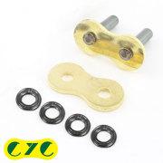 CYC バイクチェーン:530 EVXシリーズ専用 補修/リペアキット ゴールド チェーン用