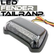 汎用 フェンダーマウント LED テールランプ ブラックボディ スモークレンズ