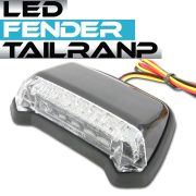 汎用 フェンダーマウント LED テールランプ ブラックボディ クリアレンズ