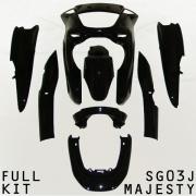 SG03J マジェスティ アッパーカウル ブラック