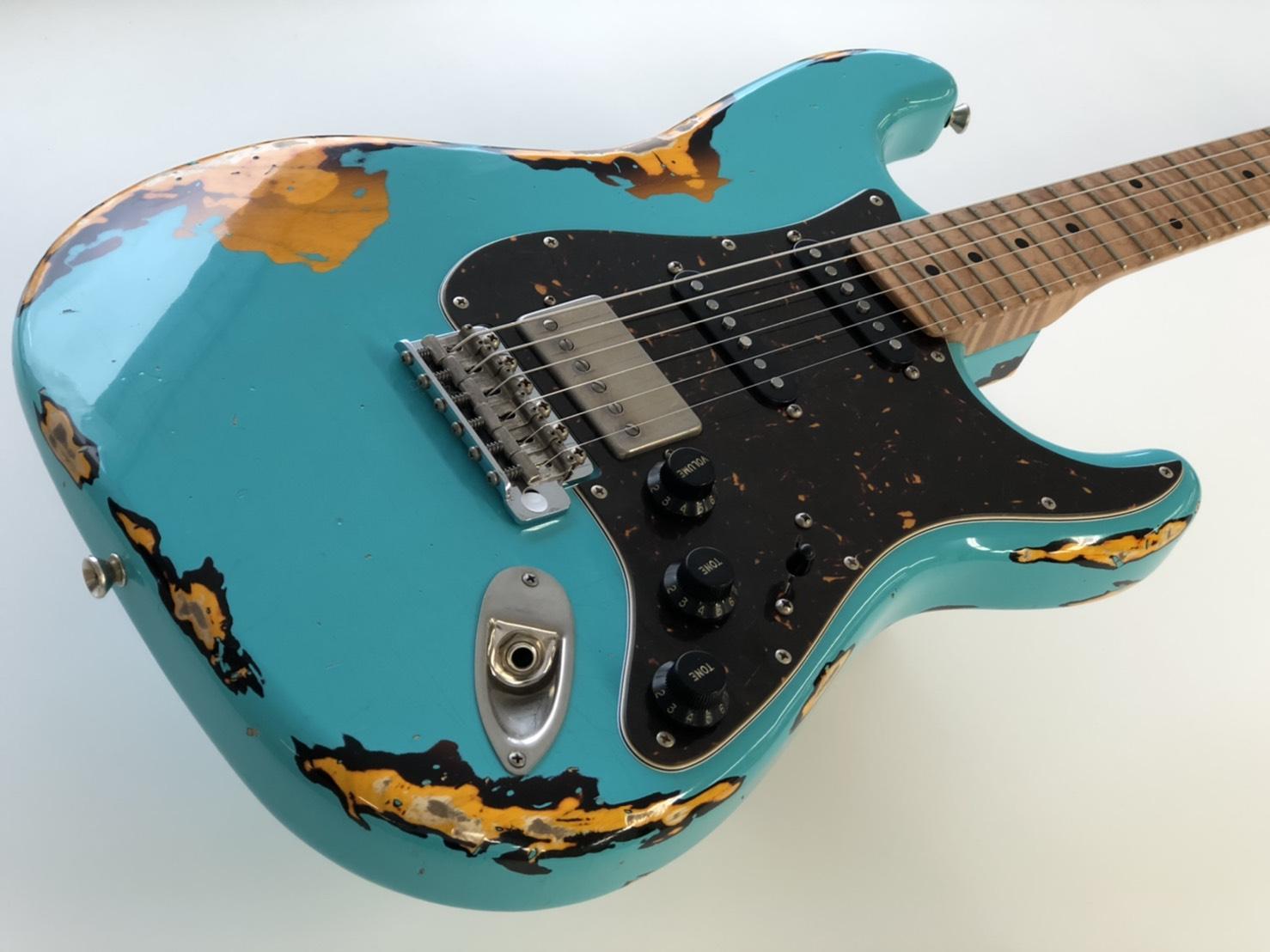 XOTIC XSC-2 /SEA FORM GREEN OVER 2TONE BURST /HEAVY AGED /ASH RM-RM /エギゾティック/エレキギター