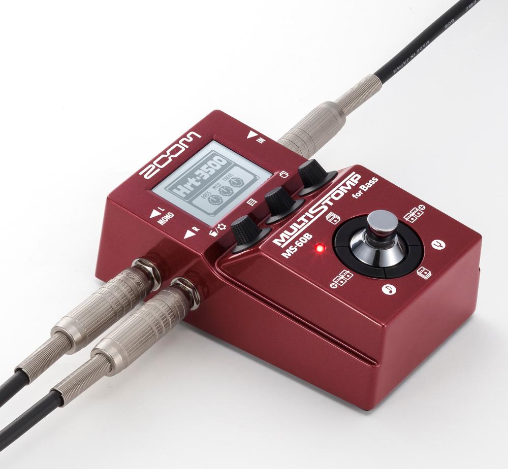 【送料無料♪】ZOOM ズーム MS-60B MultiStomp Bass Pedal マルチストンプ/マルチエフェクター/ベース用/Firmware version 2.0/142種類のエフェクト