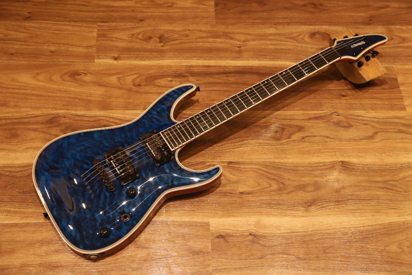 【アウトレット特価品】EDWARDS E-HR-145NT/QM  BKAQ  エドワーズ  エレキギター【送料無料&即納可能♪】