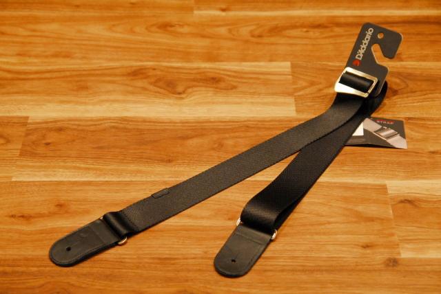 """【ネコポス不可】D'Addario ダダリオ [50PRW00] Premium Woven Straps 2"""" Black ストラップ/メタルアジャスター/黒/"""