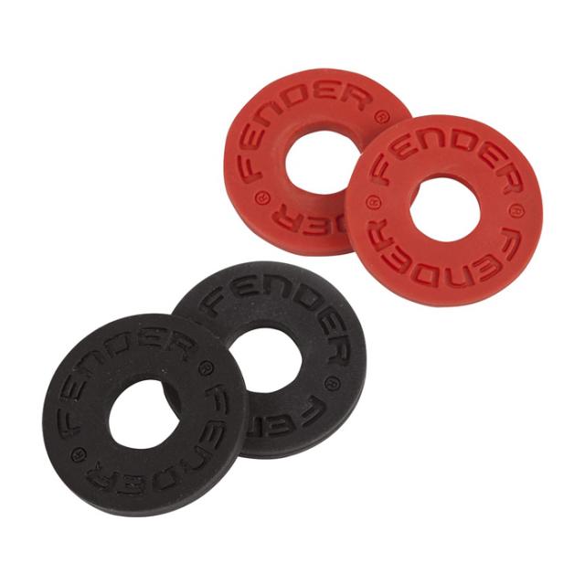 【ネコポス可能♪】Fender フェンダー [0990819000] Strap Blocks (赤黒各2個ずつ/4個入り) ストラップブロック