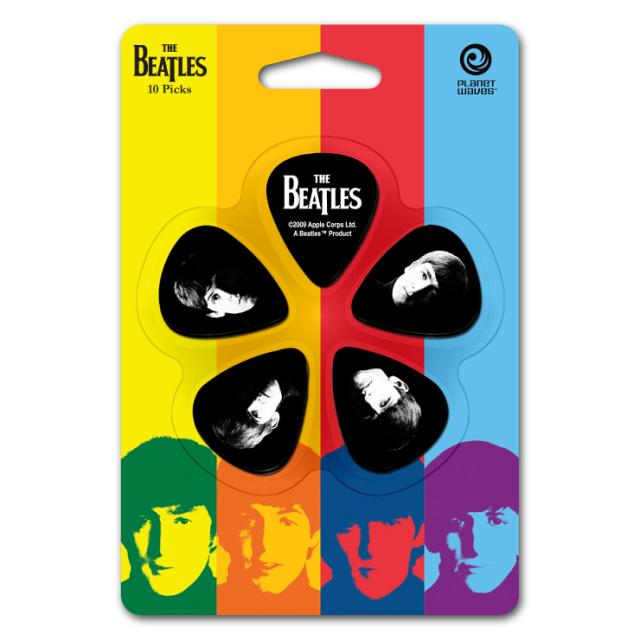 【外装汚れ特価】Planet Waves プラネットウェーブ [1CBK4-10B2] The Beatles Pick Set Medium ビートルズピックセット/ティアドロップ/ミディアム/5柄各2枚ずつ10枚入り【返品・交換不可】