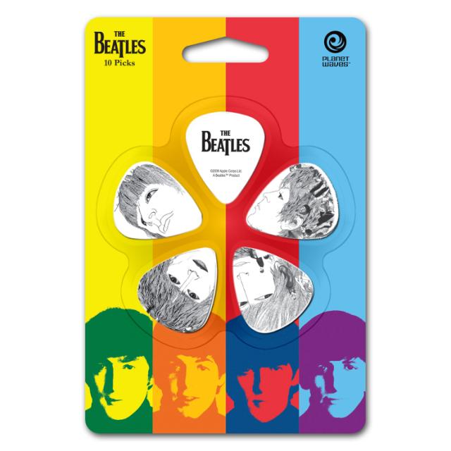 【外装汚れ特価】Planet Waves プラネットウェーブ [1CWH6-10B3] The Beatles Pick Set Heavy ビートルズピックセット/ティアドロップ/ヘビー/5柄各2枚ずつ10枚入り【返品・交換不可】