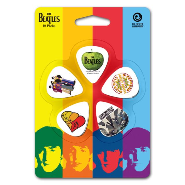 【外装汚れ特価】Planet Waves プラネットウェーブ [1CWH4-10B3] The Beatles Pick Set Medium ビートルズピックセット/ティアドロップ/ミディアム/5柄各2枚ずつ10枚入り【返品・交換不可】