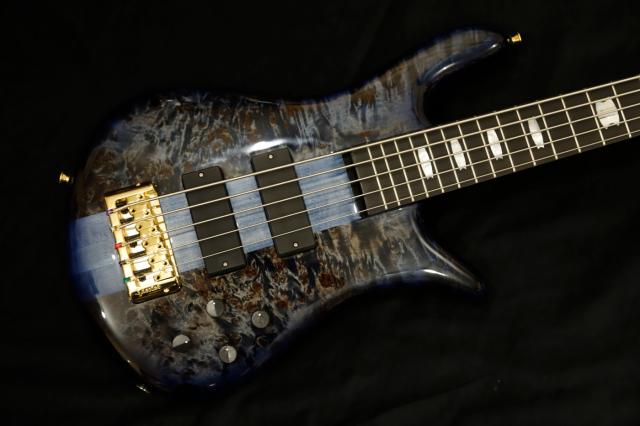 【限定生産モデル】SPECTOR EURO5LT/BLUE FADE [POPLAR BURL TOP] スペクター ユーロ 5弦 ポプラバール/トップー ユーロ  ブルーフェード