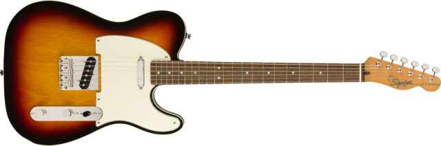 Squier by Fender《フェンダー》《スクワイヤー》Classic Vibe '60s Custom Telecaster®, Laurel Fingerboard, 3-Color Sunburst