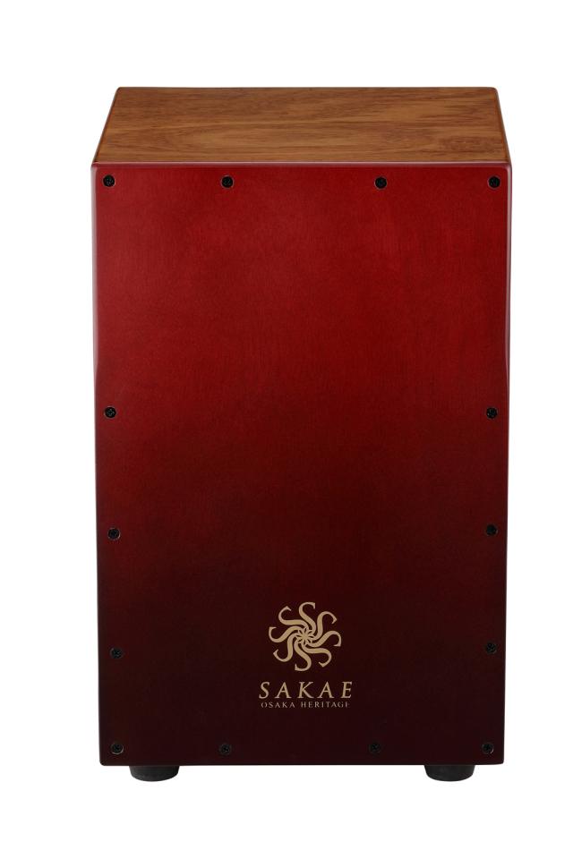 SAKAE OSAKA HERITAGE サカエ カホン CAJ-100-RDFD レッド 4面すべてが打面 ブラシ奏法対応 限定カラーモデル
