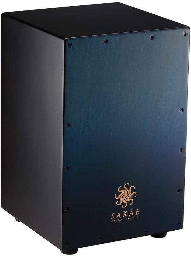 SAKAE OSAKA HERITAGE サカエ カホン CAJ-100W-BLFD ブルー ジャンベ構造 タイトな低音