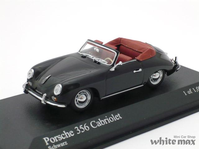 ミニチャンプス 1/43 ポルシェ 356 カブリオレ 1954 (ブラック)