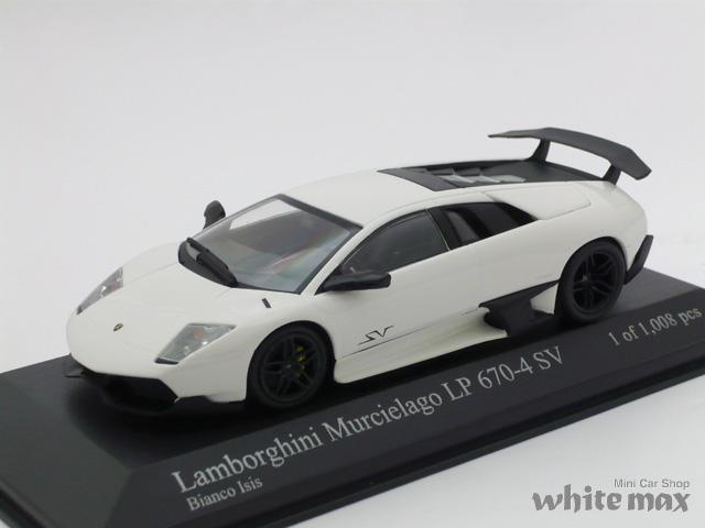 ミニチャンプス 1/43 ランボルギーニ ムルシエラゴ LP670-4 SV 2009 (ホワイト)