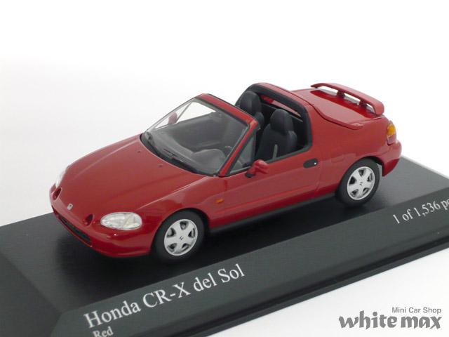 ミニチャンプス 1/43 ホンダ CR-X デルソル 1993 (レッド)