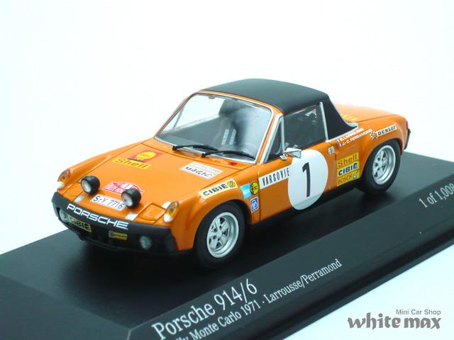 ミニチャンプス 1/43 ポルシェ 914/6 モンテカルロ ラリー 1971 No.1