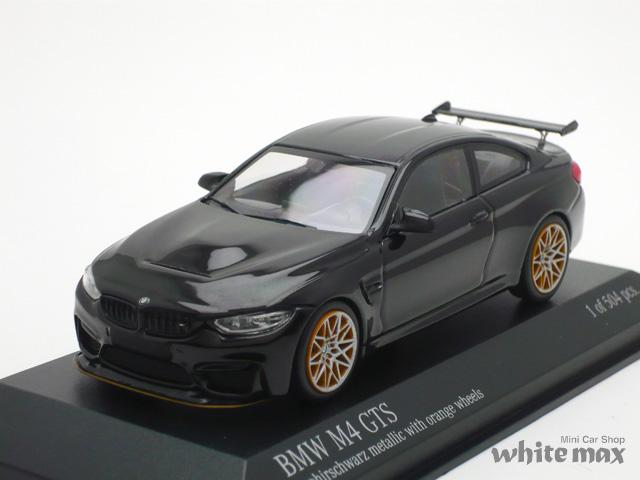 ミニチャンプス 1/43 BMW M4 GTS 2016 (ブラックメタリック/オレンジホイール)