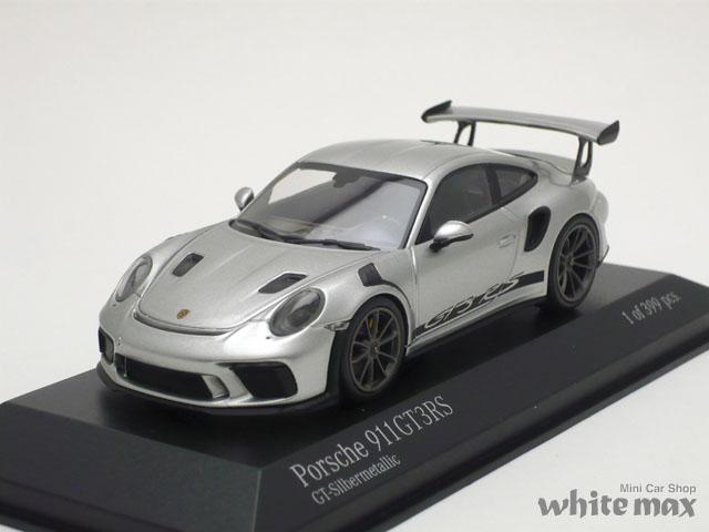ミニチャンプス 1/43 ポルシェ 911 GT3RS 2018 (シルバー)