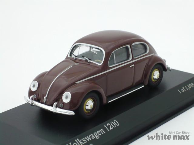 ミニチャンプス 1/43 フォルクスワーゲン 1200 1953 (ブラウン)