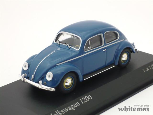 ミニチャンプス 1/43 フォルクスワーゲン 1200 1953 (ブルー)