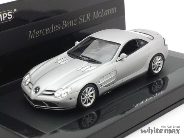 ミニチャンプス 1/43 メルセデス ベンツ SLR マクラーレン 2004 (マットシルバー)