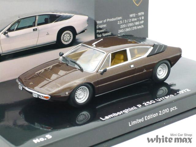 ミニチャンプス 1/43 ランボルギーニ P250 ウラッコ 1972 「ミュージアムシリーズ」 (ブラウン)