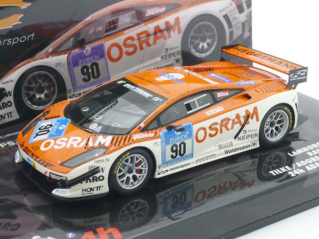 ミニチャンプス 1/43 ランボルギーニ ガヤルド 24h ADAC ニュル 2008 No.90