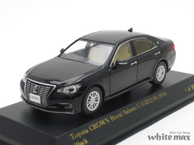 カーネル 1/43 トヨタ クラウン ロイヤルサルーン G (GRS210) 2016 (ブラック)