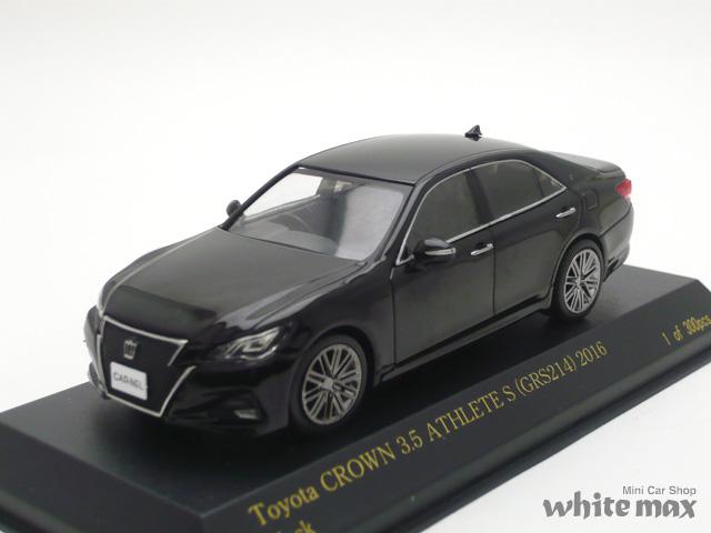 カーネル 1/43 トヨタ クラウン 3.5 アスリート S GRS214 2016 (ブラック)