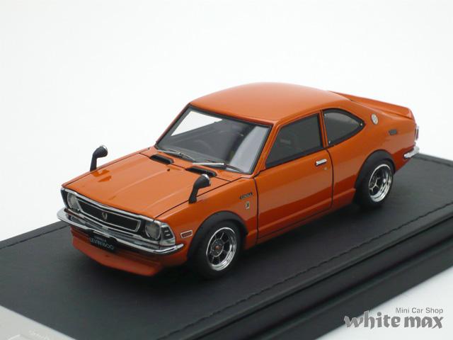イグニッションモデル 1/43 トヨタ カローラ レビン TE27 (オレンジ/ハヤシストリートホイール)