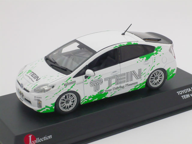 J-コレクション 1/43 トヨタ プリウス TEIN (ホワイト/グリーン)
