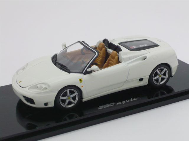 京商 1/43 フェラーリ 360 スパイダー (ホワイト)