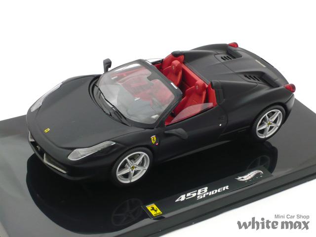 マテル 1/43 フェラーリ 458 Italia スパイダー (ブラック)