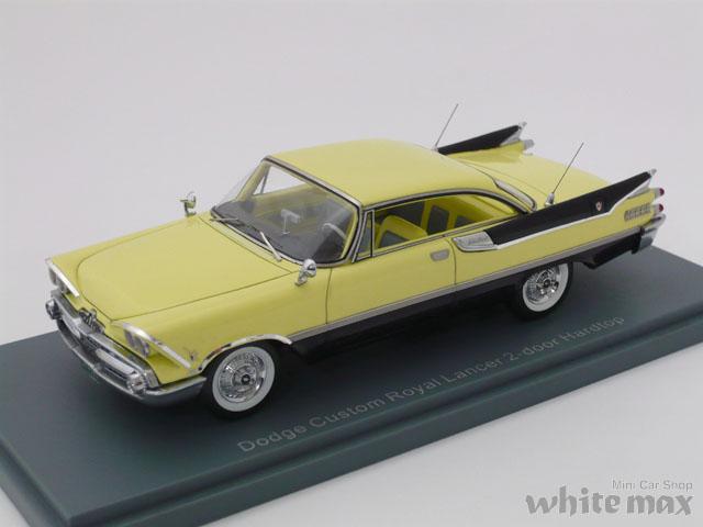 NEO 1/43 ダッジ カスタム ロイヤル 2ドア ハードトップ 1959 (イエロー/ブラック)