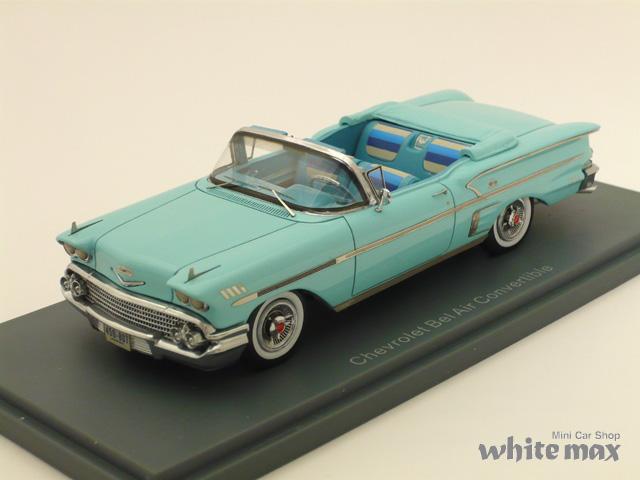 NEO 1/43 シボレー ベルエア インパラ コンバーチブル 1958 (ライトブルー)