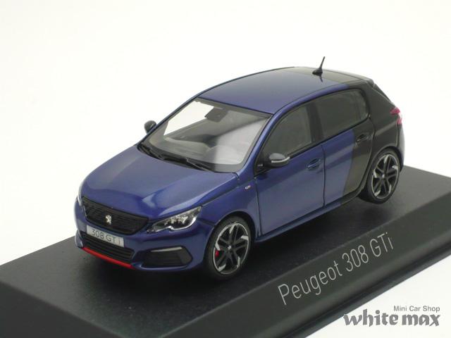 ノレブ 1/43 プジョー 308 GTi Coupe Franche 2017 (ブルー/ブラック)