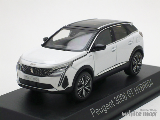 ノレブ 1/43 プジョー 3008 GT HYBRID 4 2020 (パールホワイト)