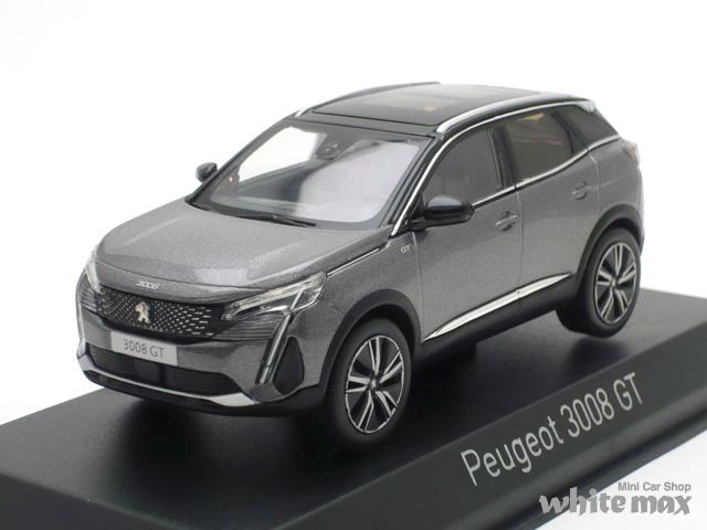 ノレブ 1/43 プジョー 3008 GT 2020 (プラチナグレー)