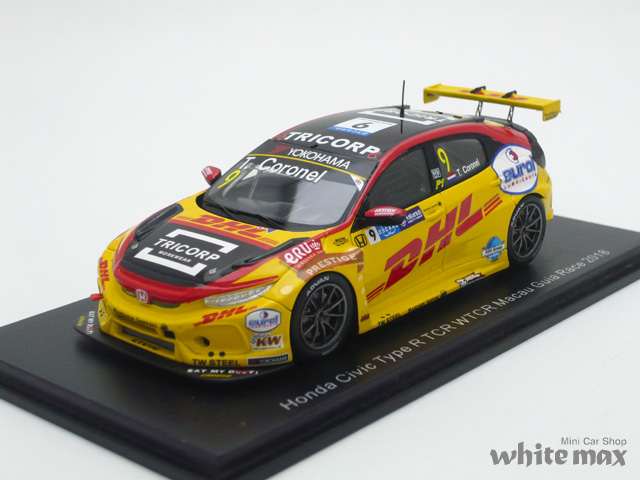 スパーク 1/43 ホンダ シビック Type R TCR WTCR Macau Guia Race 2018 No.9