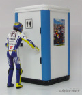 ミニチャンプス 1/12 V.Rossi フィギュア+公衆トイレ モトGP へレス 2009