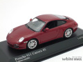 ミニチャンプス 1/43 ポルシェ 911 カレラ 4S (997II) 2008 (レッドメタリック)