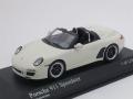 ミニチャンプス 1/43 ポルシェ 911 スピードスター 997II 2010 (ホワイト)