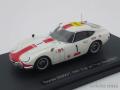 エブロ 1/43 トヨタ 2000GT 1967 富士24h No.1 (ホワイト/レッド)