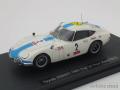 エブロ 1/43 トヨタ 2000GT 1967 富士24h No.2 (ホワイト/ブルー)