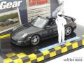 ミニチャンプス 1/43 ポルシェ 911 ターボ カブリオレ (997 II) 2009 「トップギア」 (グレーメタリック)