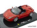 マテル 1/43 フェラーリ 458 Italia スパイダー (レッド)