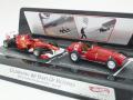 """マテル 1/43 フェラーリ F1 """"60 Years of victories"""" (F150th Italia 2011 F.アロンソ+375 イギリスGP 1951 Gonzalez) 2台セット"""