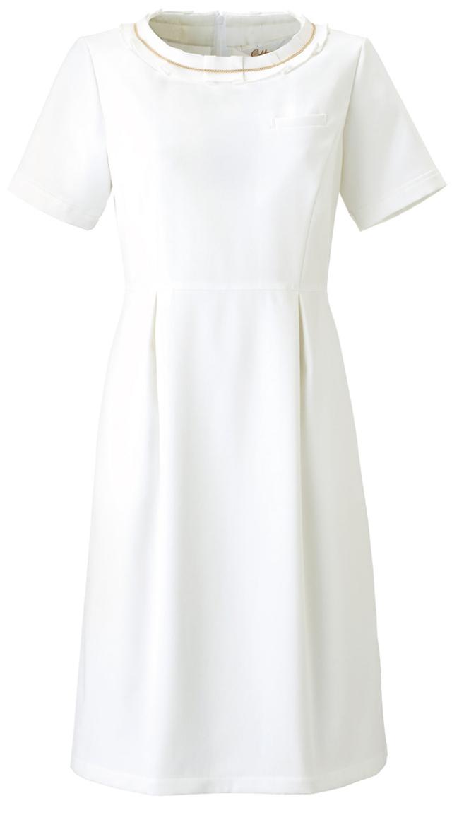 【Calala】CL-0180【ワンピース・白衣・半袖ナースウェア】★エステ・クリニック向け★