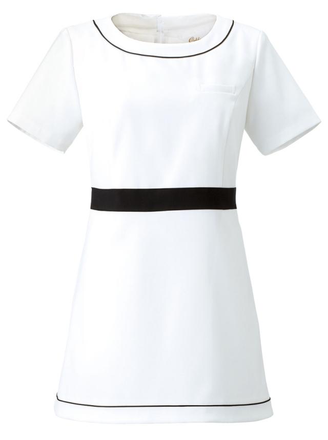 【Calala】CL-0183【チュニック・白衣・半袖ナースウェア】★エステ・クリニック向け★