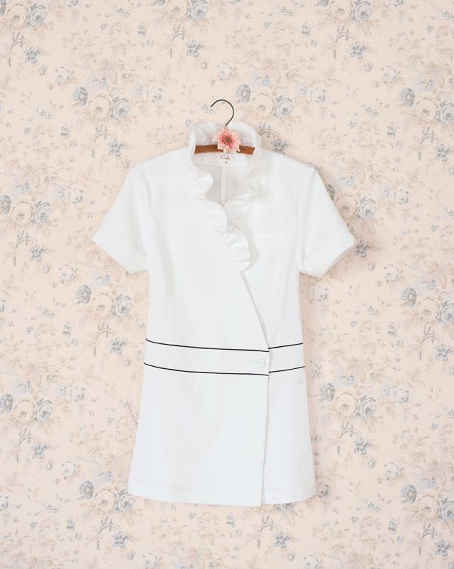 【Calala】CL-0184【チュニック・白衣・半袖ナースウェア】★エステ・クリニック向け★